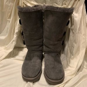 Gray UGG tall boots (Bailey Button)
